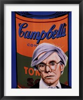 Framed Homage to Andy Warhol