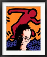 Framed Homage to Keith Haring