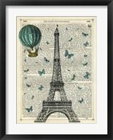 Framed Eiffel Butterflies