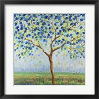 Framed Tree in Blue