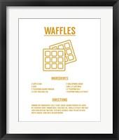 Framed Waffle Recipe Yellow on White
