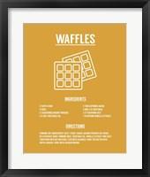 Framed Waffle Recipe White on Yellow