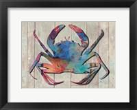 Framed Contemporary Crab III