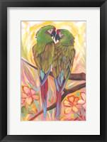 Framed Parrot Tango
