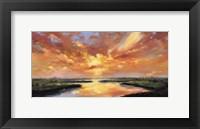 Framed Sunset Reflection