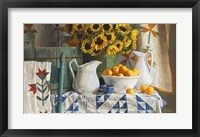 Framed Calico with Sunflowers