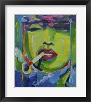 Framed Madonna Smoking