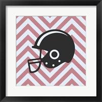 Framed Eat Sleep Play Football - Pink Part III