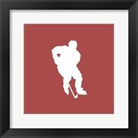 Framed Hockey Player Silhouette - Part I
