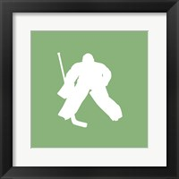 Framed Hockey Player Silhouette - Part II