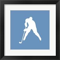 Framed Hockey Player Silhouette - Part III