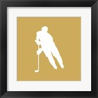 Framed Hockey Player Silhouette - Part IV
