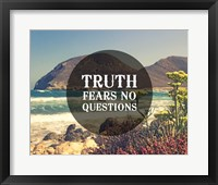 Framed Truth Fears No Questions - Sea Shore
