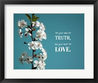 Framed Use Your Mind For Truth - Flowers on Branch Color