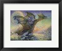 Framed Dragon Ship