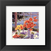 Framed Red Poppies & Green Apples