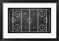 Framed Ice Hockey Rink Chalkboard