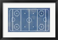 Framed Ice Hockey Rink Blue Paint