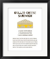 Framed Grilled Cheese Sandwich Recipe White