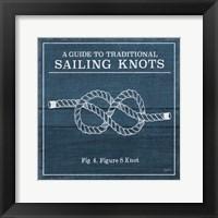 Framed Vintage Sailing Knots IV
