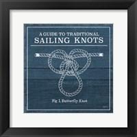Framed Vintage Sailing Knots II
