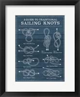 Framed Vintage Sailing Knots I