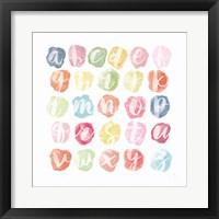 Framed Watercolor Alphabet