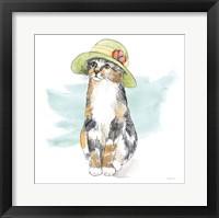 Framed Fancy Cats III Watercolor