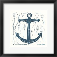 Framed Nautical Collage on White III