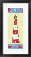 Framed Coastal Lighthouse I