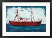 Framed Nantucket Lightship Navy no Words