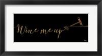Framed Underlined Wine III Black