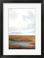 Framed Sunset Over The Marsh II