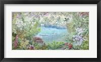 Framed Cascata Tropicale