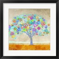 Framed Tree of Peace (detail)