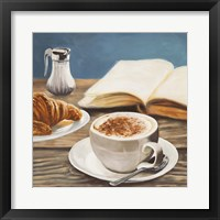 Framed Cappuccino & Book