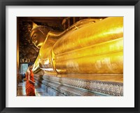 Framed Praying the reclined Buddha, Wat Pho, Bangkok, Thailand