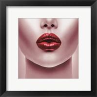 Framed Red Lips