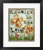 Framed Rejoice in the Lord