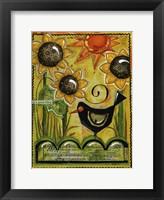 Framed Sunshine And Sunflowers