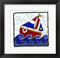 Framed USA Boat