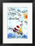 Framed Adjust Your Sail(Words)