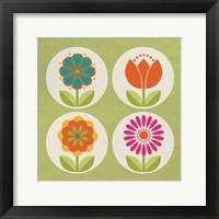 Framed Groovy Blooms I