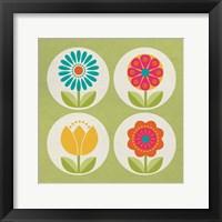 Framed Groovy Blooms II