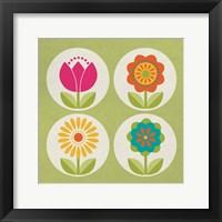 Framed Groovy Blooms III