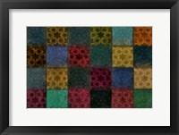 Framed Mosaic Tiles III