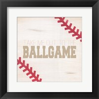 Framed Take Me Out to the Ballgame