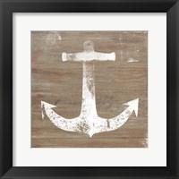 Framed White Anchor on Natural