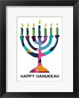 Framed Hanukkah Menorah