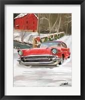 Framed 57 Chevy Christmas